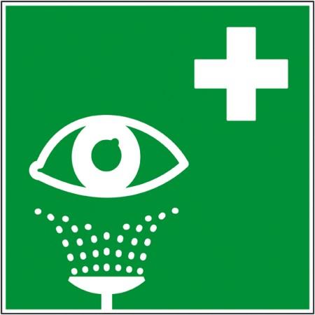 Affichage de secours pictogramme douche oeil, panneau et autocollant