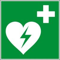 Panneau et autocollant défibrillateur de secours