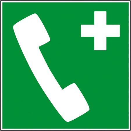 Autocollant et panneau pictogramme information secours téléphone urgence