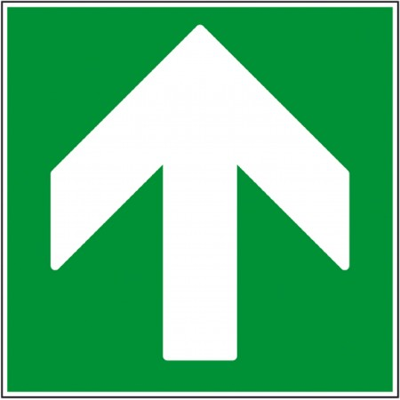 Pictogramme flèche de sécurité haute autocollant et panneau