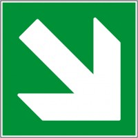 Panneau ou adhésif directionnel bas droit pour in...