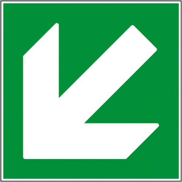 Pictogramme de secours flèche bas gauche autocoll...