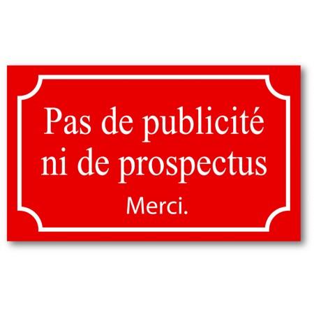 Pas de pub ou prospectus