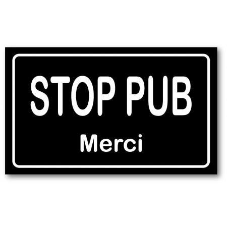 Stop pub noir