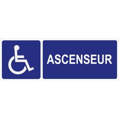Panneau pictogramme ascenseur personnes à mobilit...