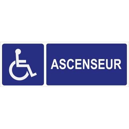 Panneau pictogramme ascenseur personnes à mobilité réduite (PMR), ou autocollant