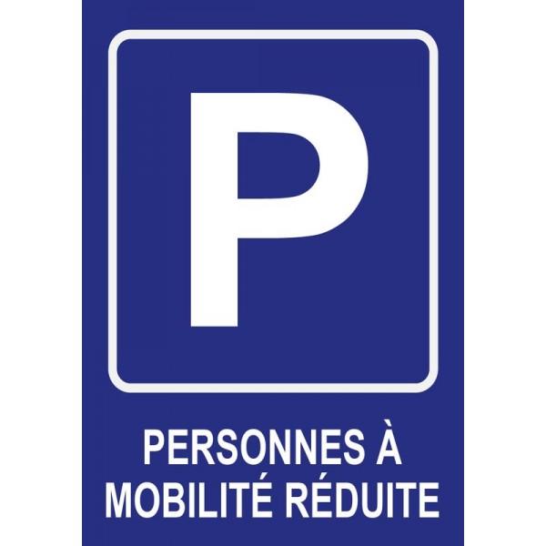 Panneau place de parking handicapé, personnes à ...