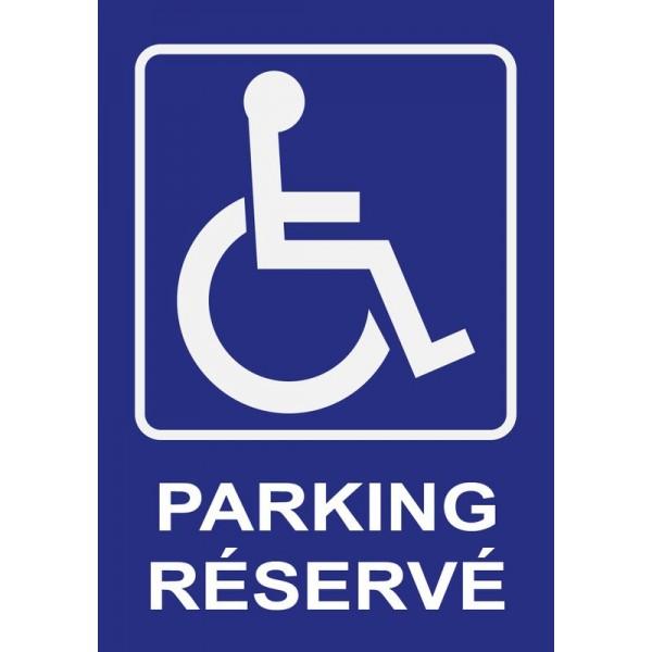 Panneau et autocollant place de parking réservée...