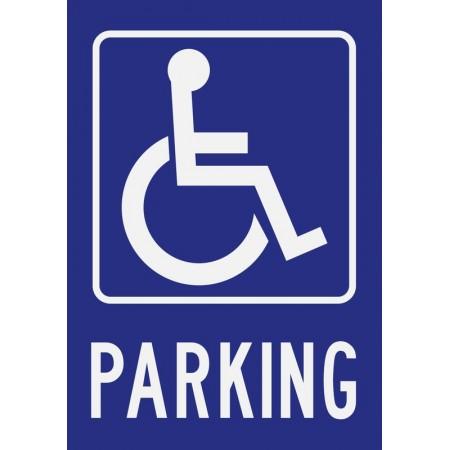 Panneau ou autocollant parking handicapé