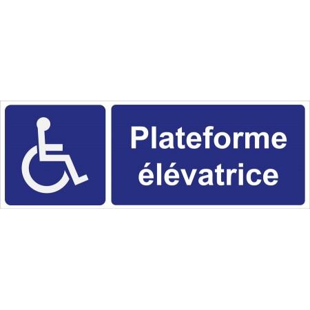 Plateforme élévatrice pour personnes invalides, autocollant et panneau