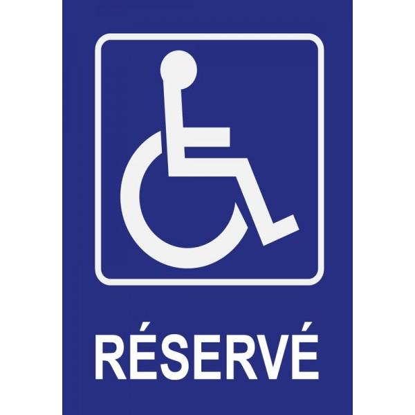 Panneau et autocollant parking réservé PMR