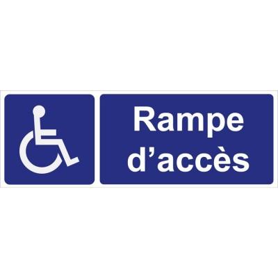 Signalisation rampe d'accès pour personnes à mob...