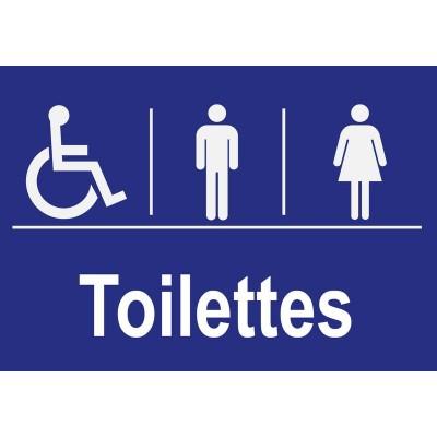 Panneau et autocollant toilettes accessibles pour ...