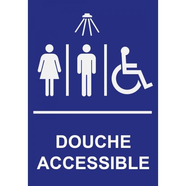 Pictogramme douche accessible pour personnes à mo...