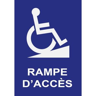 Rampe d'accès handicapé, autocollant et panneau