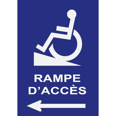 Pictogramme directionnel indication rampe d'accès...