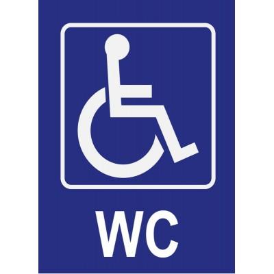 Panneau et autocollant WC toilettes pour personnes...