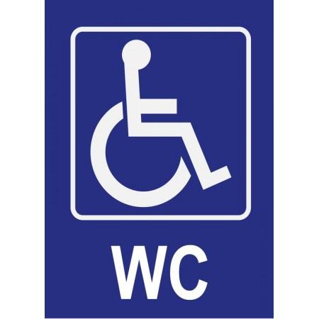 Panneau et autocollant WC toilettes pour personnes à mobilité réduite, handicapé