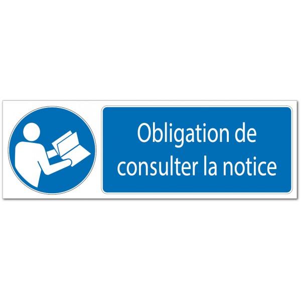 Panneau ou adhésif de signalisation obligation de...