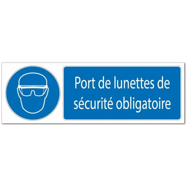 Panneau ou adhésif de signalisation port de lunet...