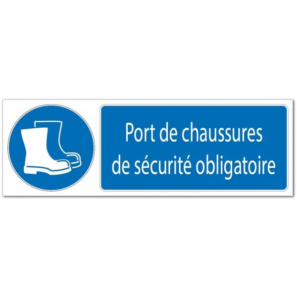 Panneau ou adhésif de signalisation de port de ch...