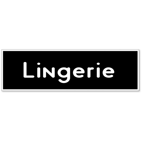 Autocollant et plaque pour porte lingerie - 9 coloris au choix