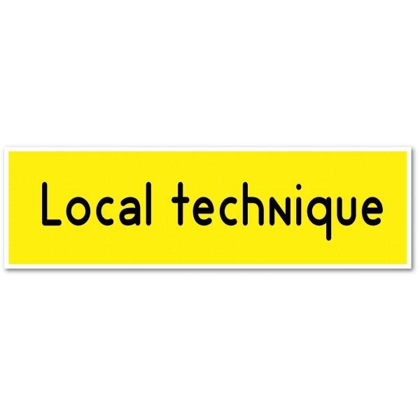 Local technique, autocollant et plaque pour porte - 9 coloris au choix