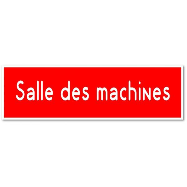 Salle des machines, autocollant et plaque pour por...