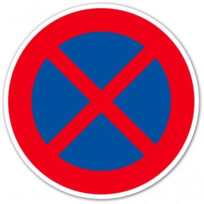 Arrêt et stationnement interdit autocollant et pa...