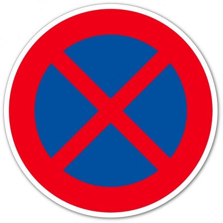 Arrêt et stationnement interdit autocollant et panneau