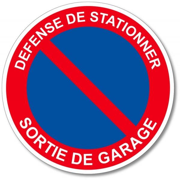 Stationnement interdit sortie de garage autocollan...