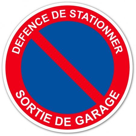 Stationnement interdit sortie de garage autocollant et panneau