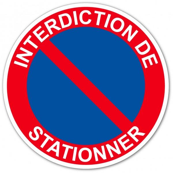 Autocollant ou panneau interdiction de stationner