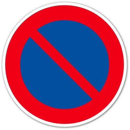 Pictogramme interdiction de stationner autocollant et panneau