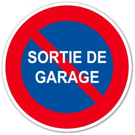 Panneau et autocollant interdiction de stationner devant le garage