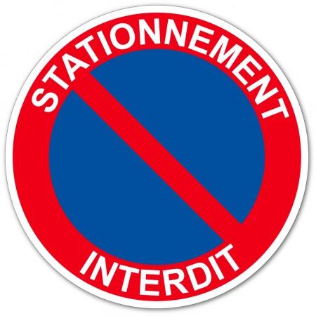 Panneau stationnement interdit, disponible en autocollant