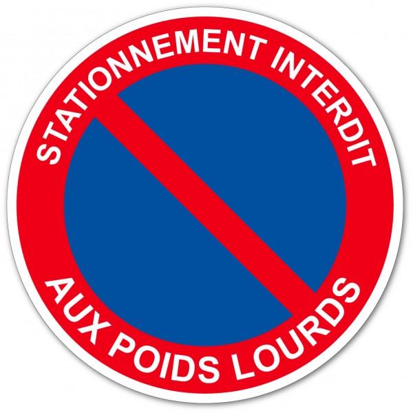 Panneau et autocollant stationnement interdit aux ...
