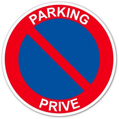 Parking privé stationnement interdit autocollant ou panneau