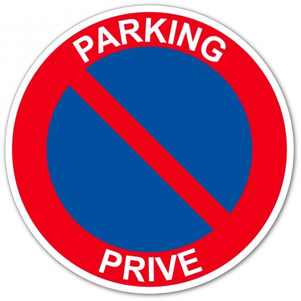 Parking privé stationnement interdit autocollant ...
