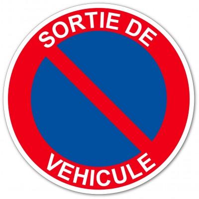Panneau interdiction de stationner sortie de véhi...
