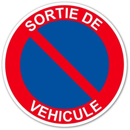 Panneau interdiction de stationner sortie de véhicules